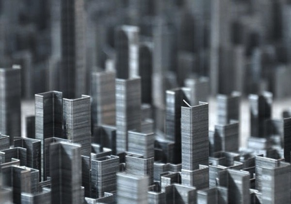 City Installation Made Out Of 100000 Staples by Peter Root 4 600x420