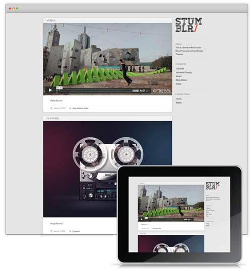 Tumblr style wordpress themes 01