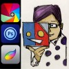 初めての人にもオススメ、手描きのイラストをiPadで気軽に色を塗って仕上げるための手順とアプリ